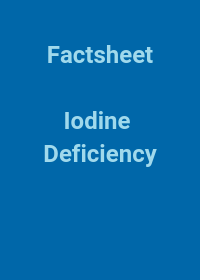 Resource cover - Iodine Deficiency