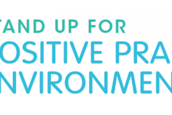 Stand Up for Positive Practice Environments Campaign Logo